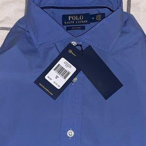 Blue Button Down Polo
